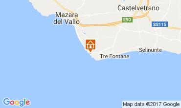 Map Mazara del Vallo Apartment 105139