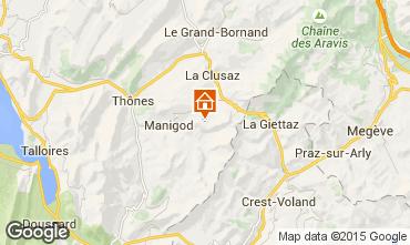 Map La Clusaz Studio apartment 26919