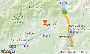 Map Belluno Apartment 66792