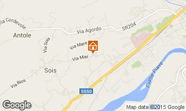 Map Belluno Apartment 66792