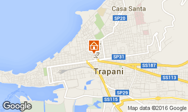 Map Trapani Studio apartment 47308