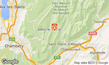 Map Les Aillons Studio apartment 64343