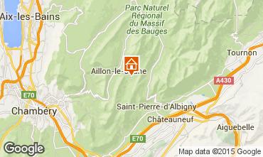 Map Les Aillons Studio apartment 64343