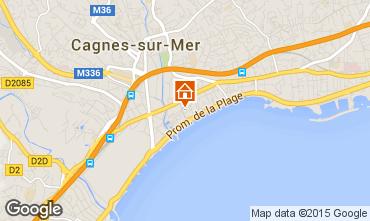 Map Cagnes sur Mer Studio apartment 88013