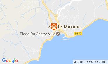 Map Sainte Maxime Studio apartment 108032
