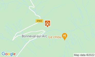 Map Bonneval sur Arc Apartment 26003