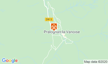 Map Pralognan la Vanoise Apartment 2284
