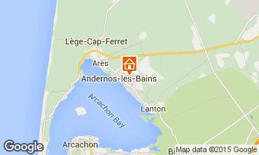 Map Andernos les Bains Studio apartment 81839