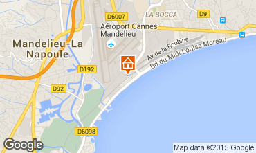 Map Cannes Apartment 102260