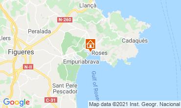 Map Rosas Apartment 105098
