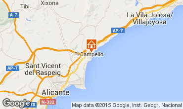 Map Alicante Apartment 55110