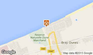 Map Bray-Dunes Apartment 23618