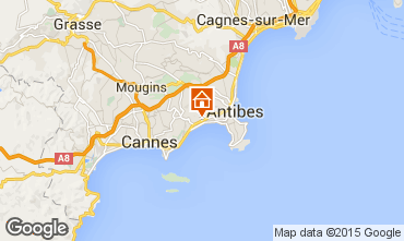 Map Juan les Pins Apartment 95449
