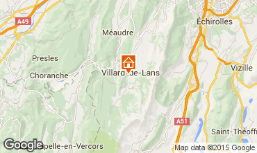 Map Villard de Lans - Corrençon en Vercors Apartment 57741