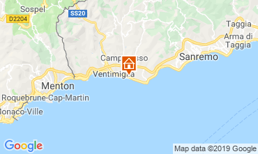 Map Vallecrosia Apartment 117780