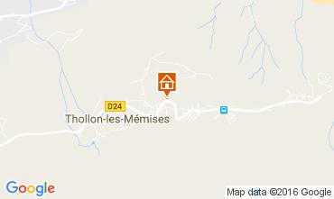 Map Thollon Les Mémises Apartment 106600