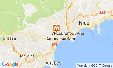 Map Cagnes sur Mer Studio apartment 92776