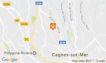 Map Cagnes sur Mer Studio apartment 92776
