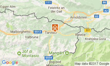 Map Tarvisio Chalet 111297