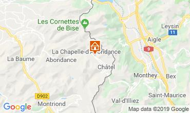 Map La Chapelle d'Abondance Chalet 16141