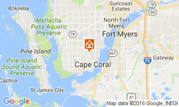 Map Cape Coral Villa 106569
