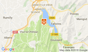 Map Annecy Apartment 114387
