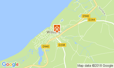 Map Wissant Self-catering property 113121
