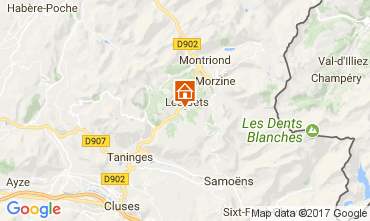 Map Les Gets Chalet 112178