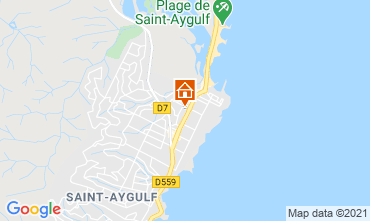 Map Fréjus Studio apartment 35438