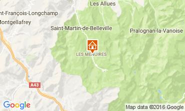 Map Les Menuires Apartment 28098