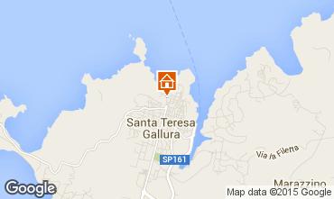 Map Santa Teresa di Gallura Apartment 75743