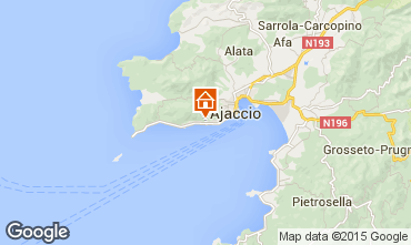 Map Ajaccio Studio apartment 66053