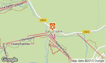 Map Val d'Isère Apartment 3359