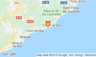 Map Tossa de Mar Studio apartment 118919