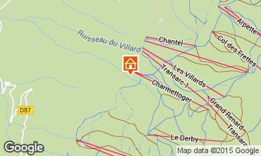 Map Les Arcs Apartment 101287