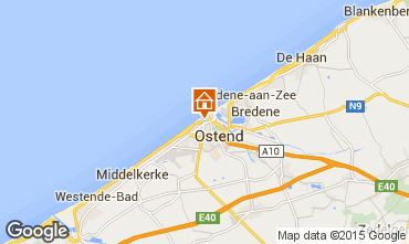 Map Ostend Studio apartment 77524