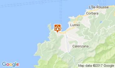 Map Calvi Villa 111491
