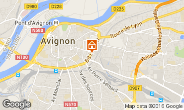 Map Avignon Studio apartment 102312