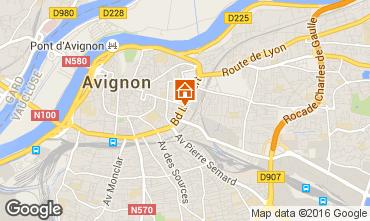 Map Avignon Studio apartment 102312