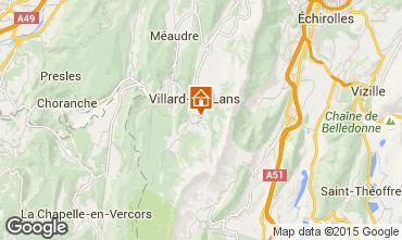 Map Villard de Lans - Corrençon en Vercors Chalet 48608