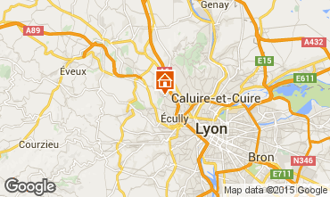 Map Lyon Self-catering property 100775