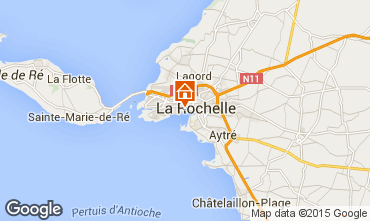 Map La Rochelle Self-catering property 75124