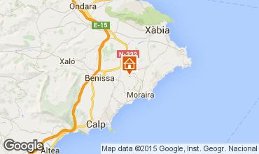 Map Benissa Apartment 75593