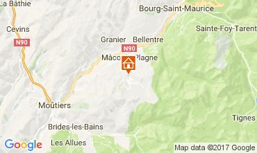Map La Plagne Chalet 50191