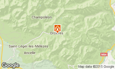 Map Orcières Merlette Self-catering property 74210
