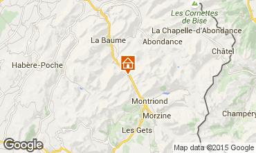 Map Saint Jean d'Aulps- La Grande Terche Studio apartment 2513