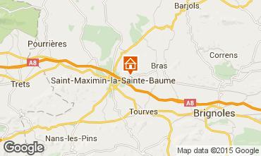Map Saint Maximin la Sainte Baume Villa 79351