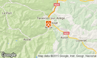 Map Ussat les Bains Self-catering property 3918