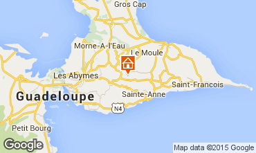 Map Sainte Anne (Guadeloupe) Self-catering property 8024
