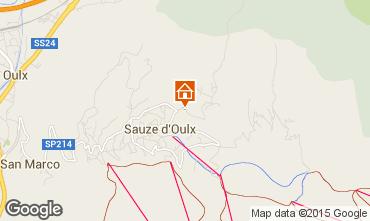 Map Sauze d'Oulx Apartment 40107